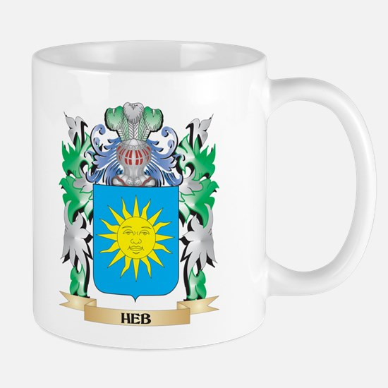 Heb Coat of Arms (Family Crest) Mugs