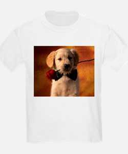 Cute Puppy With Rose T-Shirt
