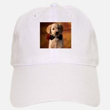 Cute Puppy With Rose Baseball Baseball Cap
