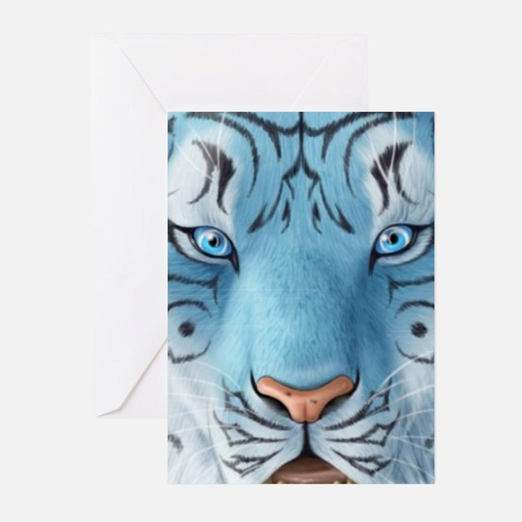 Fantasy White Tiger Greeting Cards
