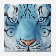 Fantasy White Tiger Tile Coaster