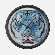 Fantasy White Tiger Large Wall Clock