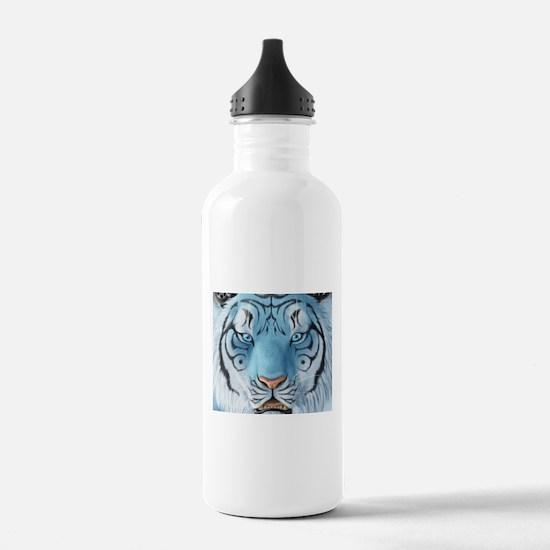 Fantasy White Tiger Sports Water Bottle