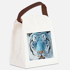 Fantasy White Tiger Canvas Lunch Bag