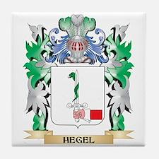 Hegel Coat of Arms (Family Crest) Tile Coaster