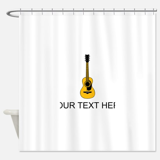 Acoustic Guitar (Custom) Shower Curtain