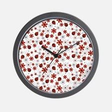 Trendy Ladybugs Wall Clock