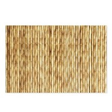 LIGHT BEIGE BAMBOO Postcards (Package of 8)