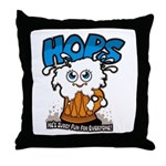 HOPS - sudsy fun for everyone Throw Pillow