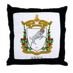 Aries Zodiac Throw Pillow