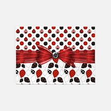 Dazzling Ladybugs 5'x7'Area Rug