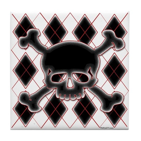 Argyle Skull Tile Coaster
