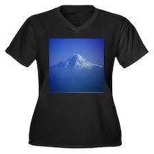 Mount Rainier Women's Plus Size V-Neck Dark T-Shir