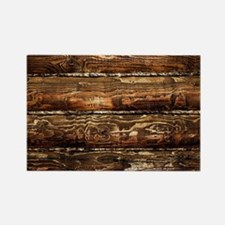 DARK STAINED WOOD WALL Rectangle Magnet