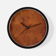 BURL OAK Wall Clock