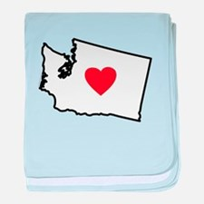 I Love Washington baby blanket
