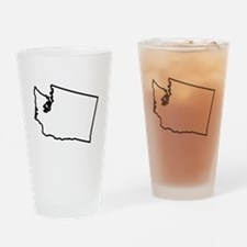 Washington State Outline Drinking Glass