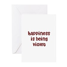 happiness is being Violet Greeting Cards (Pk of 10