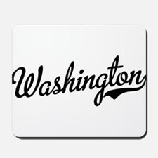 Washington Script Black Mousepad