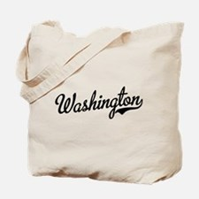 Washington Script Black Tote Bag