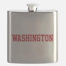 Washington Jersey Red Flask