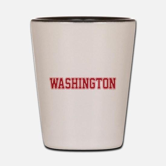 Washington Jersey Red Shot Glass