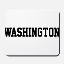Washington Jersey Black Mousepad