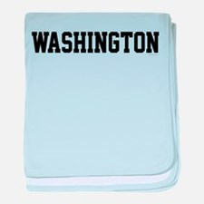 Washington Jersey Black baby blanket