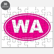 Washington WA Euro Oval PINK Puzzle