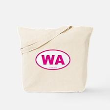 Washington WA Euro Oval PINK Tote Bag