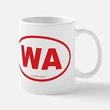 Washington WA Euro Oval RED Mug