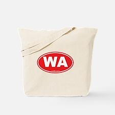 Washington WA Euro Oval RED Tote Bag