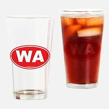 Washington WA Euro Oval RED Drinking Glass