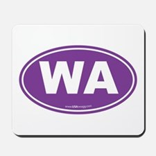 Washington WA Euro Oval PURPLE Mousepad