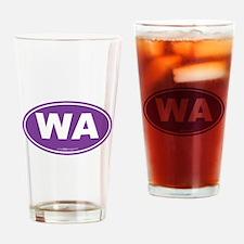 Washington WA Euro Oval PURPLE Drinking Glass