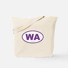 Washington WA Euro Oval PURPLE Tote Bag