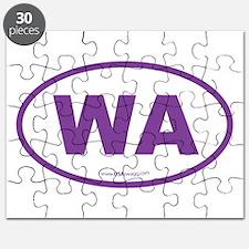 Washington WA Euro Oval PURPLE Puzzle