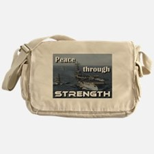 Peace through Strength Messenger Bag