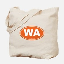 Washington WA Euro Oval ORANGE Tote Bag