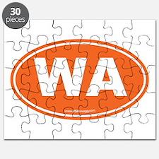 Washington WA Euro Oval ORANGE Puzzle