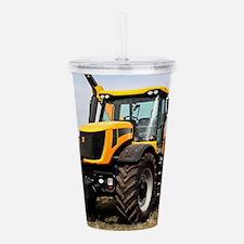 Black & yellow tractor Acrylic Double-wall Tumbler