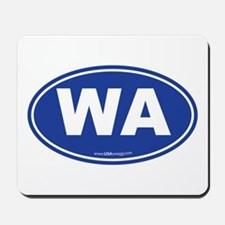 Washington WA Euro Oval BLUE Mousepad
