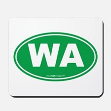 Washington WA Euro Oval GREEN Mousepad