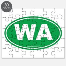 Washington WA Euro Oval GREEN Puzzle