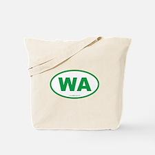 Washington WA Euro Oval GREEN Tote Bag