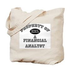 Property of a Financial Analyst Tote Bag