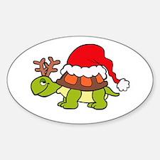 Turtle Christmas Decal