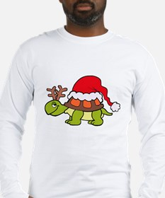 Turtle Christmas Long Sleeve T-Shirt