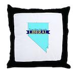 True Blue Nevada LIBERAL Throw Pillow
