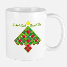 xmas treesave quilt gold clear Mug